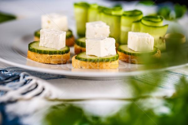 Brood kubus feta komkommer Stockfoto © grafvision