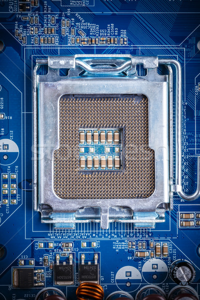 Blue electronic circuit board  Stock photo © grafvision
