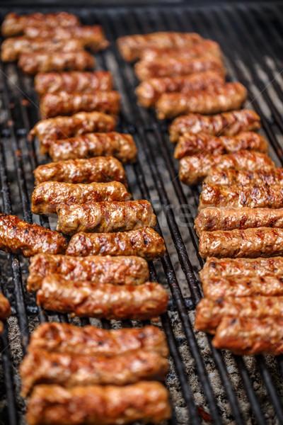 традиционный румынский барбекю свинина мяса Сток-фото © grafvision
