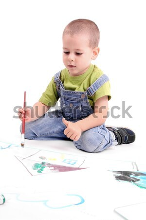 boy painting Stock photo © grafvision