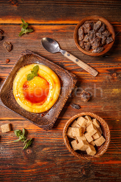 Creme brulee dessert Stock photo © grafvision