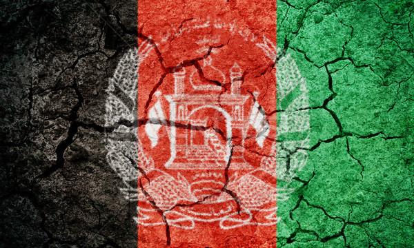 Cumhuriyet Afganistan bayrak kuru toprak Stok fotoğraf © grafvision