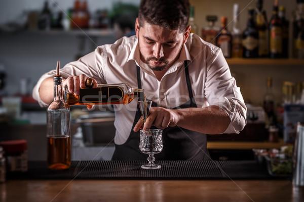 Barman alcohol cocktail drinken rum Stockfoto © grafvision