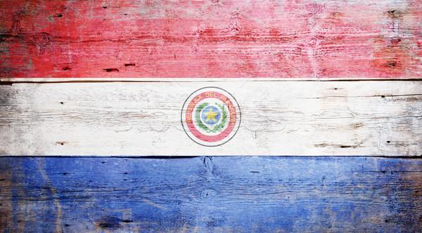 Bandiera Paraguay verniciato legno Foto d'archivio © grafvision