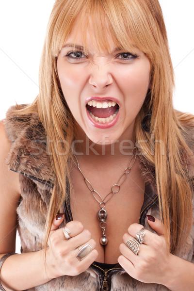 screaming woman Stock photo © grafvision