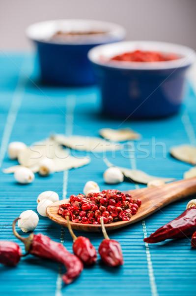 Chili and pink pepper Stock photo © grafvision