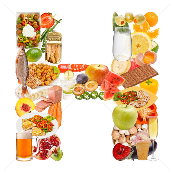 Letter H made of food  Stock photo © grafvision