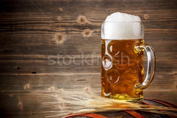 Friss világos sör üveg folyadék hideg tárgy Stock fotó © grafvision