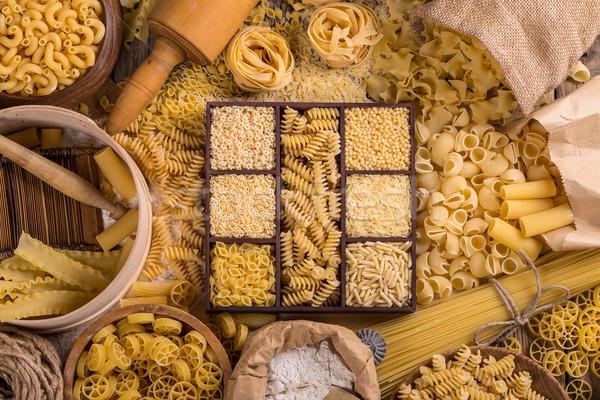 Foto stock: Macarrão · cozinha · utensílios · espaguete · refeição · rota