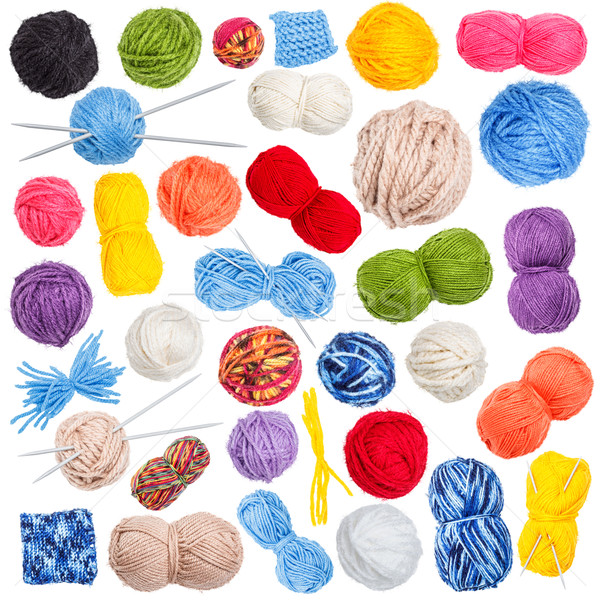Collection of wool knitting Stock photo © grafvision