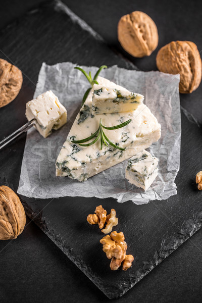 チーズ 作品 ナット 青 ミルク 黒 ストックフォト © grafvision
