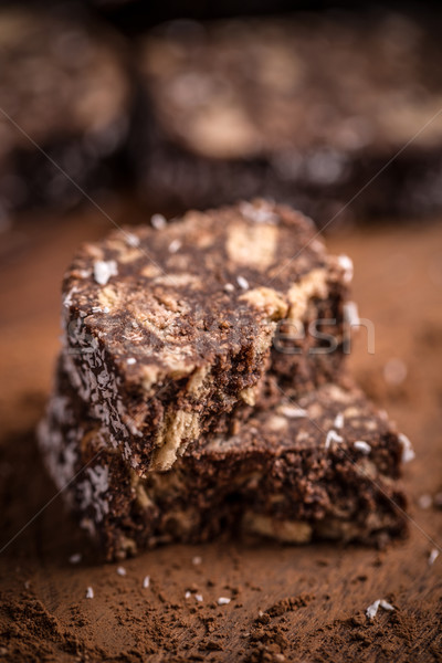 Salami voedsel zoete suiker Stockfoto © grafvision