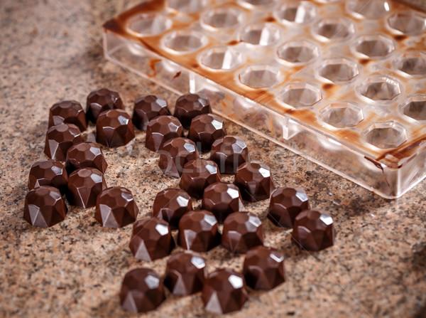 Homemade choclate praline Stock photo © grafvision