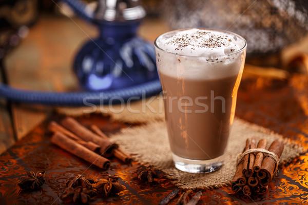 Hot chai latte Stock photo © grafvision