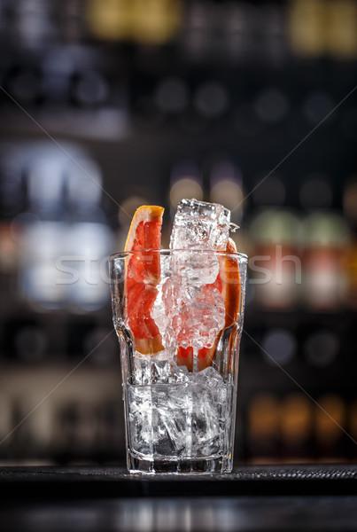 Grejpfrut kostkę lodu pić owoców alkoholu Zdjęcia stock © grafvision