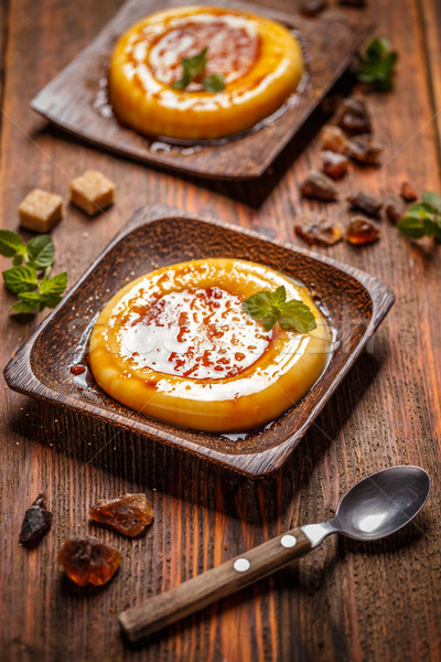 типичный десерта бамбук пластина продовольствие фон Сток-фото © grafvision