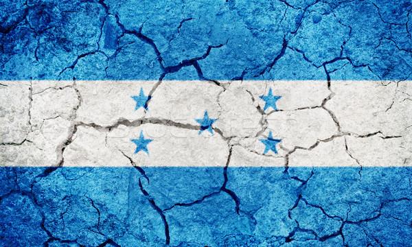 республика Гондурас флаг высушите земле землю Сток-фото © grafvision
