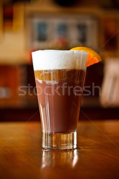 ストックフォト: コーヒー · エスプレッソ · ミルク · 務め · バー · 表