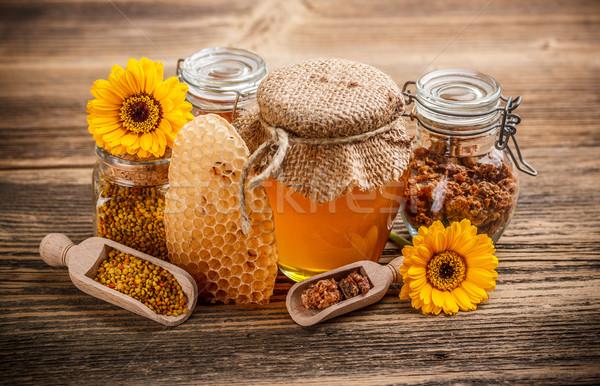 Miele prodotto ancora vita fiore alimentare salute Foto d'archivio © grafvision