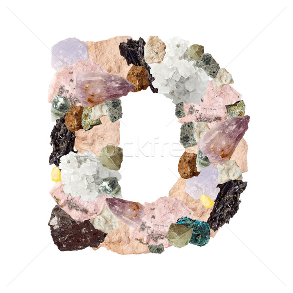 Minerali alfabeto isolato bianco lettera d metal Foto d'archivio © grafvision