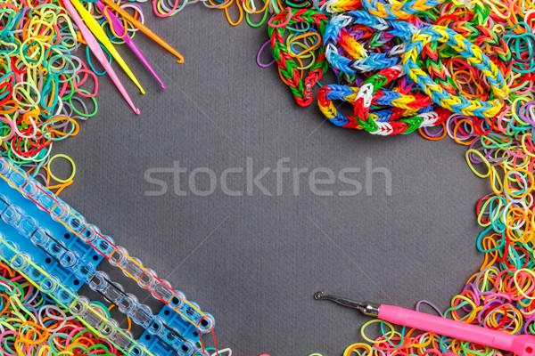 Ingesteld kleurrijk elastisch mode oranje groene Stockfoto © grafvision