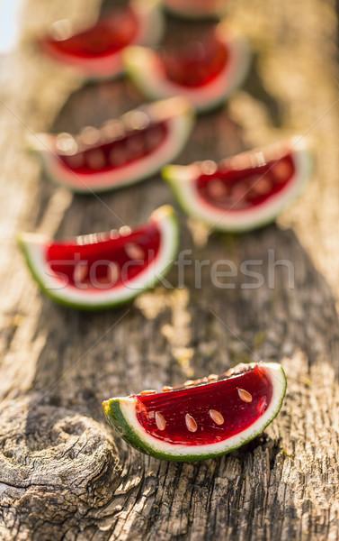 Red jello Stock photo © grafvision