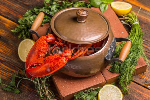 Boiled lobster Stock photo © grafvision