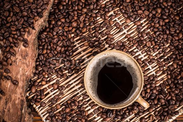 Koffiepauze tijd stilleven koffie cafe ontbijt Stockfoto © grafvision
