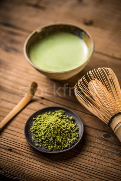 Matcha fine powdered green tea Stock photo © grafvision