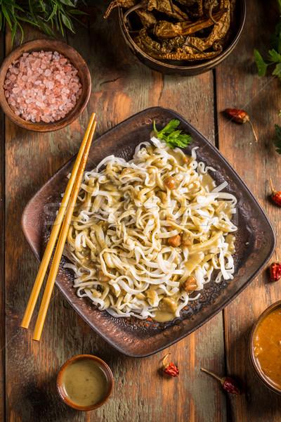 Сток-фото: блюд · Top · мнение · зеленый · мяса · обед