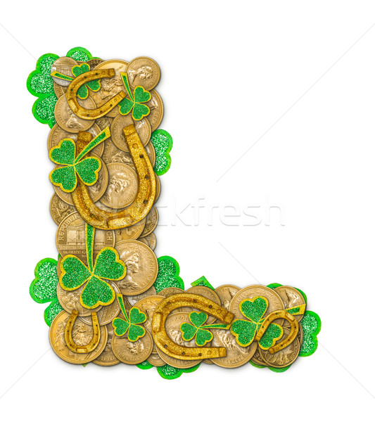 St. Patricks Day holiday letter L Stock photo © grafvision