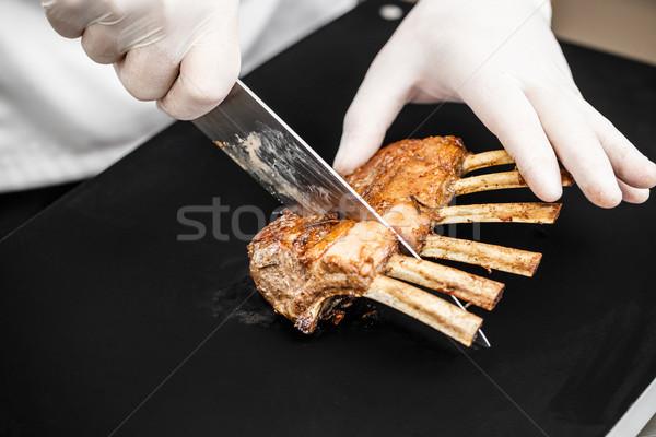 Photo stock: Rack · agneau · alimentaire · chef · plaque