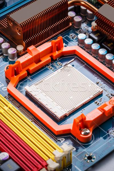 Tecnología ordenador CPU azul circuito fondo Foto stock © grafvision