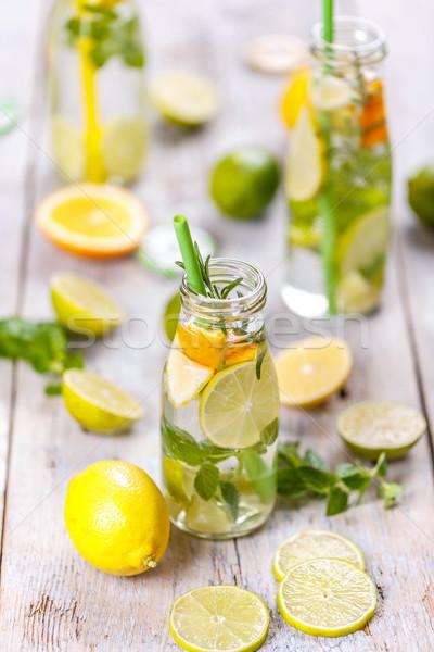 Limonada fresco limão de folha fruto Foto stock © grafvision