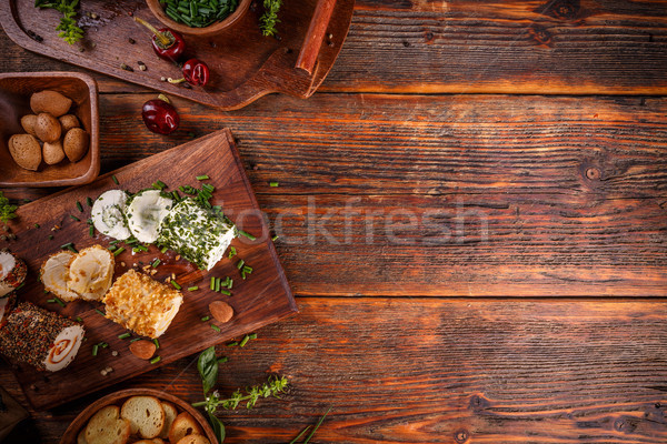 Cottage cheese with colorful stuffing Stock photo © grafvision