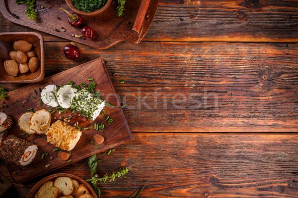 Fromage cottage coloré farce espace vert chalet Photo stock © grafvision