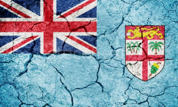 República Fiji bandera secar tierra suelo Foto stock © grafvision