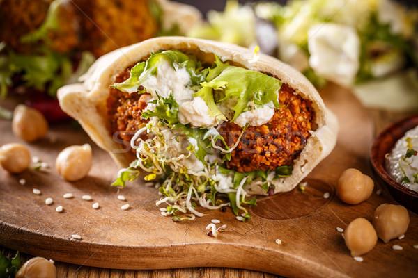 Stock photo: Delicious falafel snack
