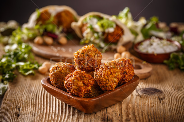 Fresh chickpeas falafel Stock photo © grafvision