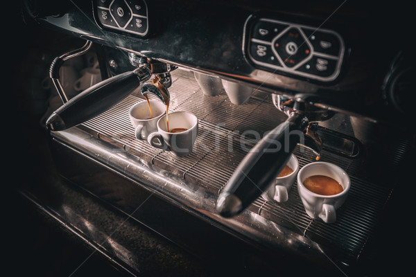 Stock photo:  Professional coffee brewing