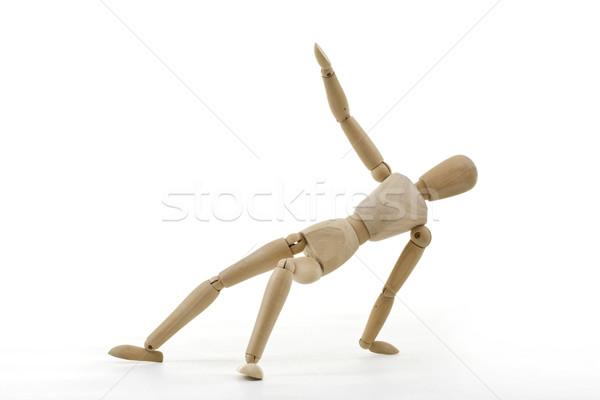 Figurilla bailarín romper aislado blanco diseno Foto stock © grafvision