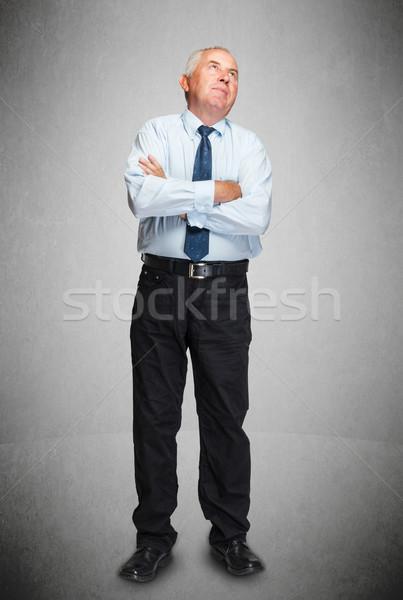 Gondolkodik kifejező idős üzletember üzlet férfi Stock fotó © grafvision