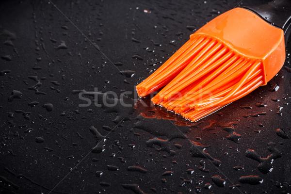 Silicone pennello padella cucina olio Foto d'archivio © grafvision