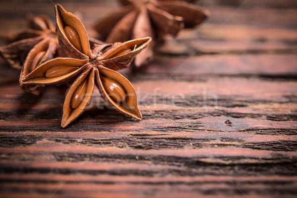 Anice stelle rustico legno sementi Spice Foto d'archivio © grafvision