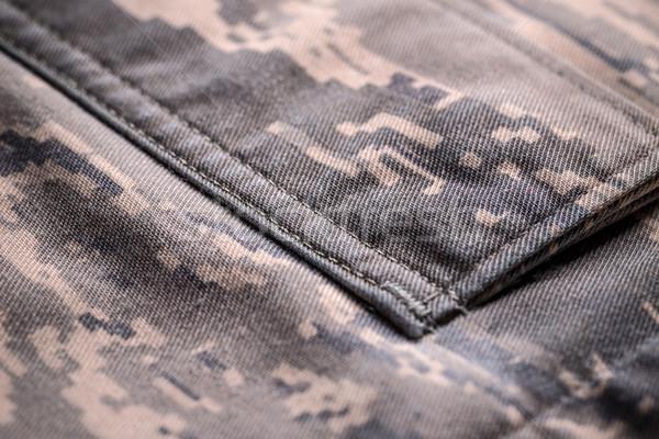 Kamuflaż shirt kieszeni szczegół cyfrowe wzór Zdjęcia stock © grafvision