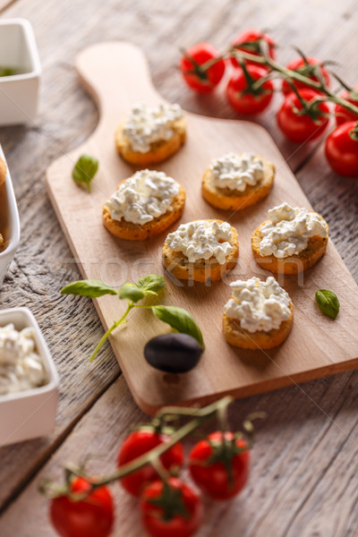 Fresh cottage cheese  Stock photo © grafvision