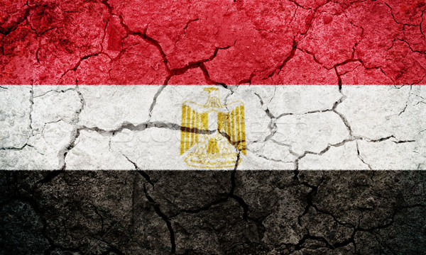 Emiraty republika Egipt banderą wyschnięcia ziemi Zdjęcia stock © grafvision