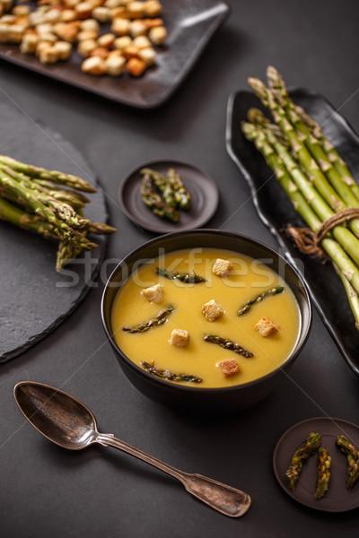 Homemade asparagus cream soup Stock photo © grafvision