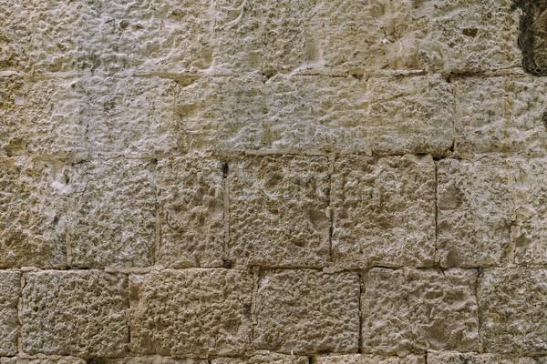 Grunge taş duvar yüzey gri taş Stok fotoğraf © grafvision