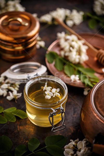 Acacia honey in jar Stock photo © grafvision